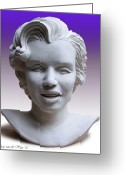 Clay Sculpture Greeting Cards - Marilyn Greeting Card by Arie Van der Wijst