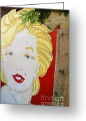 Marilyn Munroe Greeting Cards - Marilyn Greeting Card by Ethna Gillespie