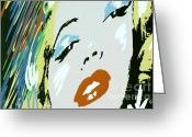 Marilyn Monroe Singer Greeting Cards - Marilyn in Hollywood Greeting Card by Micah May