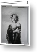Marilyn Munroe Greeting Cards - Marilyn in lace Greeting Card by Terry Stephens