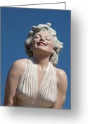 Clouds Framed Prints Greeting Cards - Marilyn in the Sun Greeting Card by Matthew Bamberg