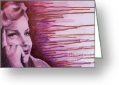 Www.artworkxofmann.com Mixed Media Greeting Cards - Marilyn Greeting Card by James Flynn