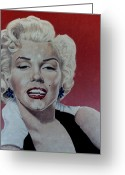 Star Greeting Cards - Marilyn Greeting Card by Maria Arango