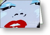Marilyn Monroe Singer Greeting Cards - Marilyn Monroe 1 Greeting Card by Micah May