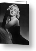 1950s Fashion Photo Greeting Cards - Marilyn Monroe Greeting Card by American School
