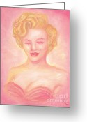 Retro Pastels Greeting Cards - Marilyn Monroe Greeting Card by Cassandra Geernaert