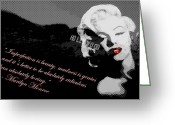 Stars Digital Art Greeting Cards - Marilyn Monroe Imperfection is Beauty Greeting Card by Brad Scott