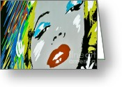 Marilyn Monroe Singer Greeting Cards - Marilyn Monroe Greeting Card by Micah May
