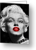 Marilyn Monroe Singer Greeting Cards - Marilyn Monroe Greeting Card by Pamela Johnson
