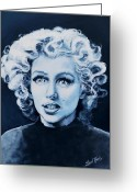 Marilyn Monroe Singer Greeting Cards - Marilyn Monroe Greeting Card by Shirl Theis