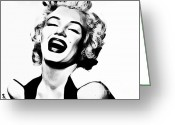Marilyn Monroe Singer Greeting Cards - Marilyn Monroe Greeting Card by The DigArtisT
