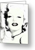 Marilyn Munroe Greeting Cards - Marilyn Munroe Greeting Card by Shanina Conway