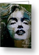 Icon  Painting Greeting Cards - Marilyn no10 Greeting Card by Paul Lovering