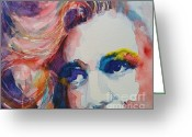 Watercolor Greeting Cards - Marilyn no11 Greeting Card by Paul Lovering