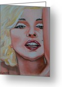 Marilyn Munroe Greeting Cards - Marilyn Greeting Card by Rene Waddell