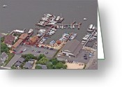 Flights Greeting Cards - Marina Barnegat Bay Head New Jersey Greeting Card by Duncan Pearson