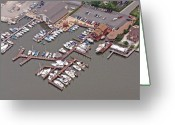 Flights Greeting Cards - Marina Barnegat Bay Head New Jersey II Greeting Card by Duncan Pearson