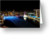 Eye On The Ball Greeting Cards - Marina Bay Singapore Greeting Card by Chua  ChinLeng