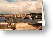 East Coast Digital Art Greeting Cards - Marina Of Rhode Island Greeting Card by Lourry Legarde