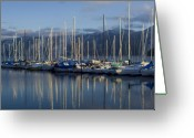 Bayview Greeting Cards - Marina Tranquility Greeting Card by Idaho Scenic Images Linda Lantzy