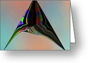 Photo-realism Digital Art Greeting Cards - Marine Abstrat 11a Greeting Card by Irma BACKELANT
