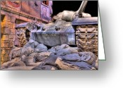 Veterans Day Greeting Cards - Marine Corps Museum Tank Greeting Card by JC Findley