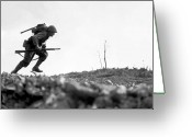Military History Greeting Cards - Marine Dash On Okinawa Greeting Card by War Is Hell Store
