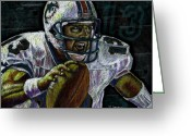 Miami Dolphins Greeting Cards - Marino Greeting Card by Maria Arango