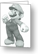 Super Mario Greeting Cards - Mario Greeting Card by Rich Colvin