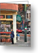 Mario Greeting Cards - Marios Bohemian Cigar Store Greeting Card by Mars Lasar