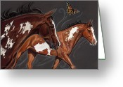 Horses Pastels Greeting Cards - Marissa Greeting Card by Kim McElroy