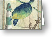 Lighthouse Greeting Cards - Maritime 2 Greeting Card by Debbie DeWitt