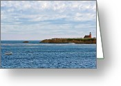 Abbot Greeting Cards - Mark Abbot Memorial Lighthouse - Lighthouse on the beach - Santa Cruz CA USA Greeting Card by Christine Till