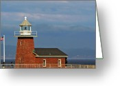 Coast Guard Greeting Cards - Mark Abbott Memorial Lighthouse California - The worlds oldest surfing museum Greeting Card by Christine Till