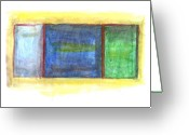 Paul Klee Greeting Cards - Mark Rothko Flying Southwest Greeting Card by Kevin Callahan