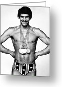 Munich Greeting Cards - Mark Spitz (1950- ) Greeting Card by Granger