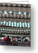 Outdoor Canopy Greeting Cards - Market Greeting Card by Andrew  Michael