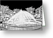Myrtle Beach South Carolina Greeting Cards - Market Common Fountain Infrared Greeting Card by Bill Barber