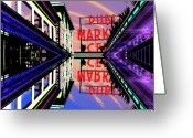 Market Greeting Cards - Market Entrance Greeting Card by Tim Allen