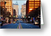 Cityhall Greeting Cards - Market Street in the Morning Greeting Card by Bill Cannon