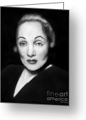 Cheek Drawings Greeting Cards - Marlene Dietrich Greeting Card by Peter Piatt