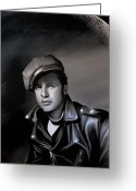 Brando Greeting Cards - Marlon Brando  Greeting Card by Andrzej  Szczerski