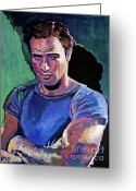 Movie Legend Greeting Cards - Marlon Brando Greeting Card by David Lloyd Glover