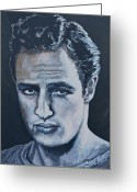 Brando Greeting Cards - Marlon Brando Greeting Card by Shirl Theis