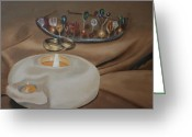 Oil Lamp Greeting Cards - Marraige Covenant Greeting Card by Elmarie Swanepoel