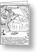 Ignore Greeting Cards - MARRIED COUPLE, 1600s Greeting Card by Granger