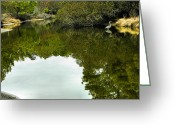 Landscape Framed Prints Greeting Cards - Marsh Stream I Greeting Card by Steven Ainsworth
