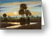 Rick Mckinney Greeting Cards - Marsh Sunset Greeting Card by Rick McKinney