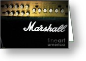 Amplifier Greeting Cards - Marshall Amplifier Greeting Card by Eena Bo