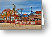 On The Beach Greeting Cards - Martells On The Beach - Jersey Shore Greeting Card by Angie McKenzie